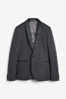 Next Check Suit: Jacket-Skinny Fit - 272488