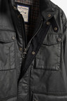 Next Four Pocket Biker Jacket With Heritage Check Lining