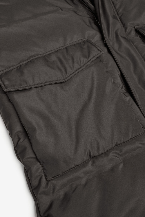 Next Shower Resistant Longline Quilted Jacket