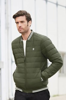 Next Shower Resistant Quilted Bomber Jacket With DuPont Sorona - 272549