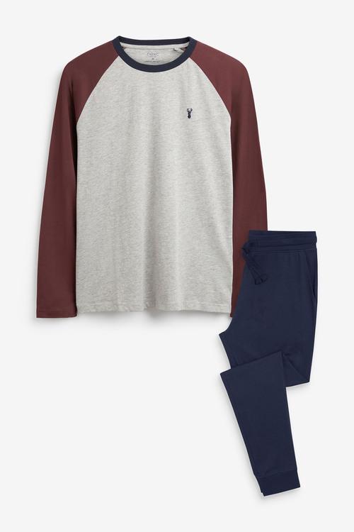 Next Raglan Cuffed Pyjama Set