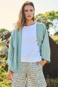 Emerge Linen Blend Kimono - 272607