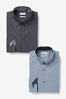 Next Trimmed Shirts Two Pack