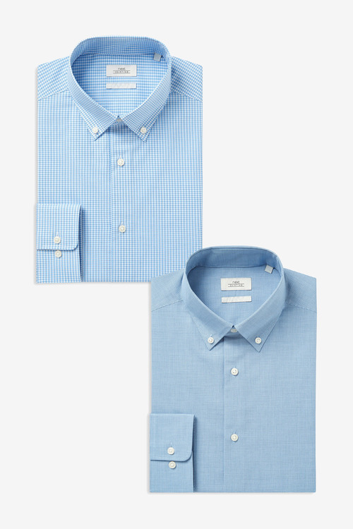 Next Check Shirts Two Pack