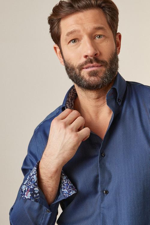 Next Signature Trimmed Shirt-Slim Fit Single Cuff