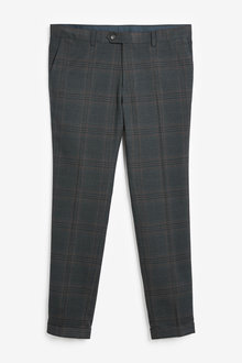 Next Skinny Fit Check Suit: Trousers - 272653