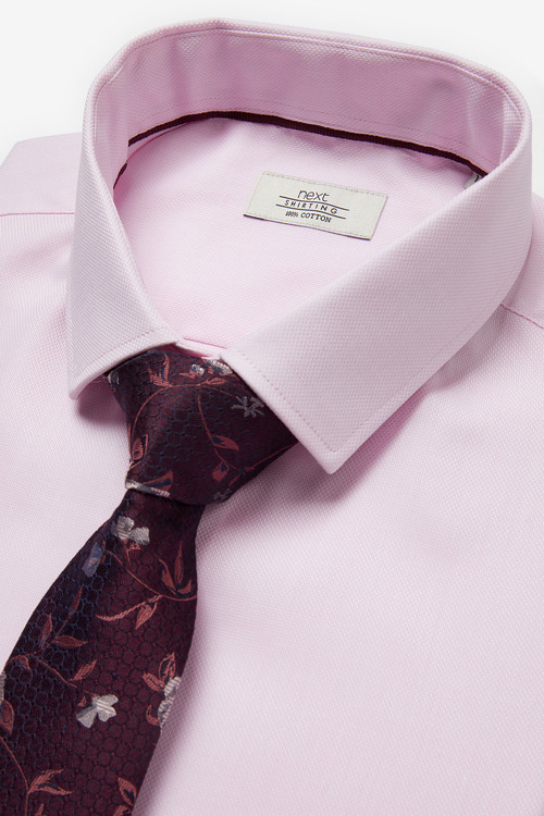Next Cotton Shirt And Tie Set