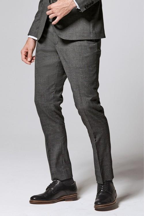 Next Textured Suit: Trousers-Slim Fit
