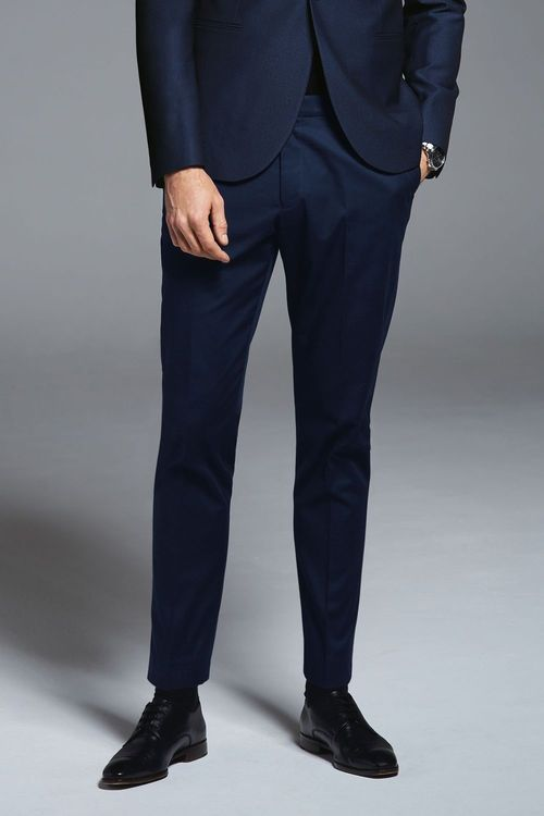 Next Textured Suit: Trousers-Slim Tapered