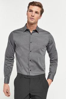 Next Cotton Tonic Trimmed Shirt-Regular Fit Single Cuff - 272686