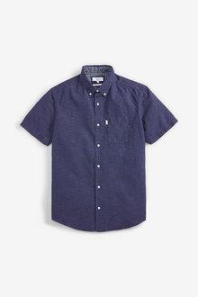 Next Dot Textured Shirt - 272729