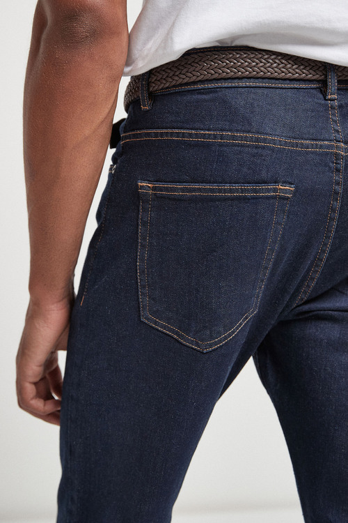 Next Belted Jeans With Stretch