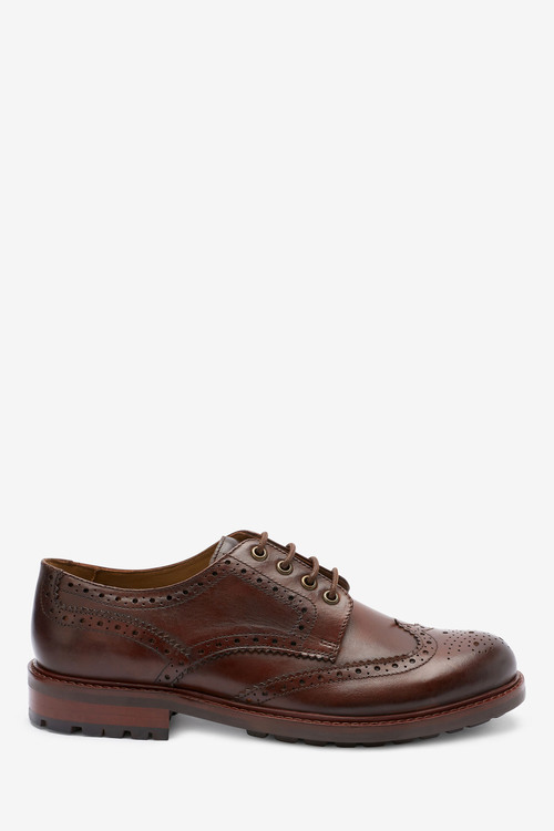 Next Modern Heritage Leather Cleated Brogue Shoes