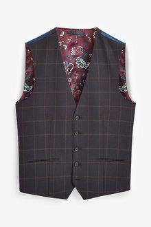 Next Check Slim Fit Suit-Waistcoat - 272846