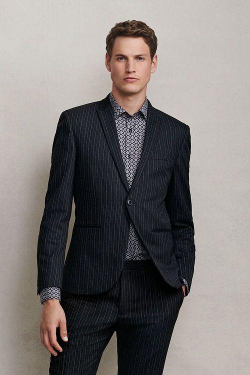 Next Stripe Skinny Fit Suit-Jacket