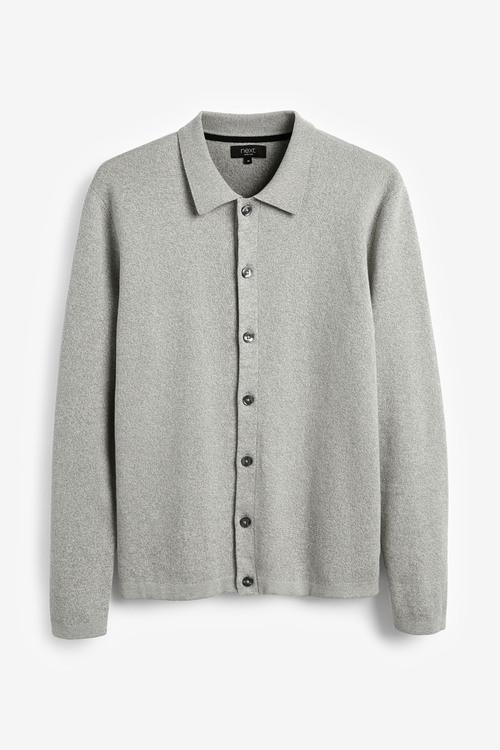 Next Knitted Button Through Polo