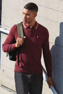 Next Textured Knitted Polo - 272992