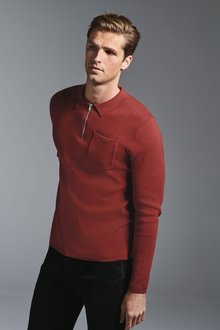 Next Knitted Zip Neck Polo - 272994