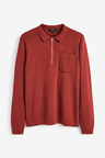 Next Knitted Zip Neck Polo