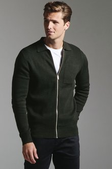 Next Knitted Zip Through Polo - 272997