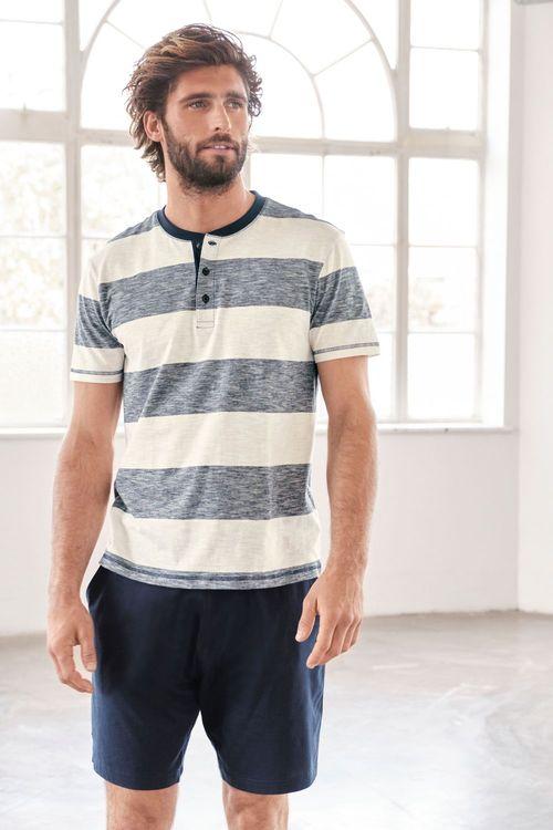 Next Block Stripe Short Pyjama Set