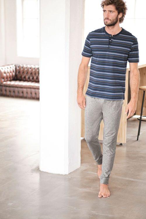 Next Stripe Cuffed Pyjama Set