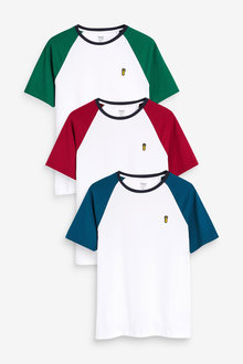 Next Colour Raglan T-Shirts Three Pack - 273084