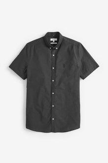 Next Short Sleeve Stretch Oxford Shirt-Tall - 273234