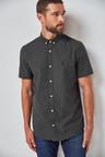 Next Short Sleeve Stretch Oxford Shirt-Tall