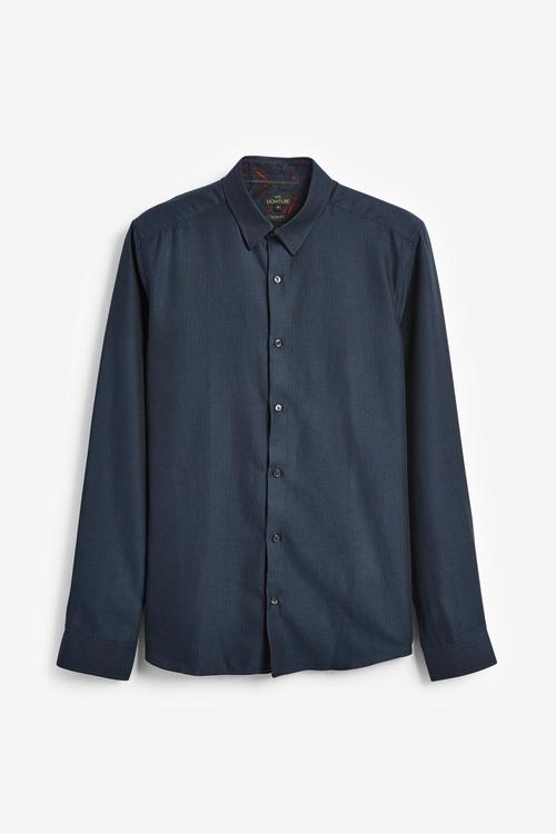 Next Signature Herringbone Shirt