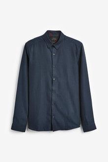 Next Signature Herringbone Shirt - 273257