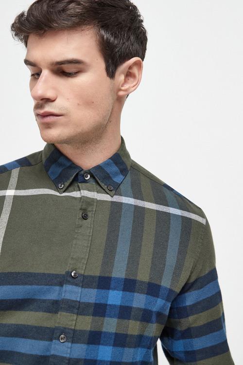 Next Oversize Check Shirt