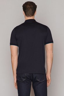 Next Blocked Zip Neck Polo - 273320