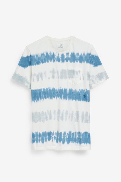 Next Tie Dye Stripe Slim Fit T-Shirt