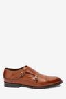 Next Signature Italian Leather Double Monk Shoes