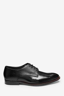 Next Signature Italian Leather Hi-Shine Derby Shoes - 273467