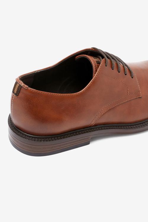 Next Contrast Sole Derby Shoes