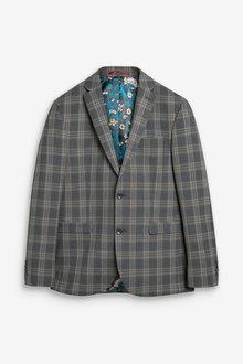 Next Slim Fit Check Suit: Jacket - 273499
