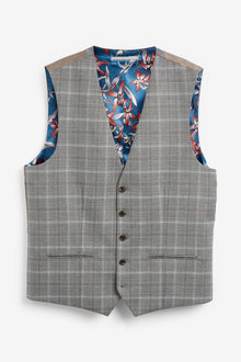 Next Check Suit: Waistcoat - 273506