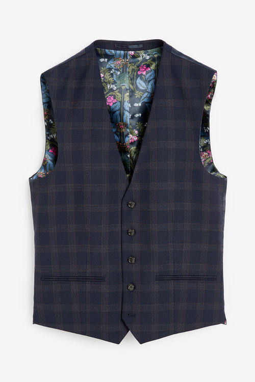 Next Check Tailored Fit Suit-Waistcoat