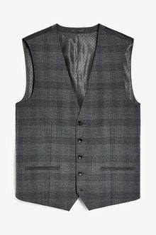 Next Slim Fit Signature Check Suit: Jacket-Waistcoat - 273516