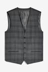 Next Slim Fit Signature Check Suit: Jacket-Waistcoat