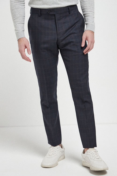 Next Signature Check Slim Fit Suit-Trousers
