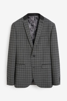 Next Check Slim Fit Jacket - 273526