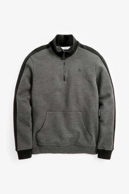 Next Sports Jersey-Zip Neck Sweatshirt