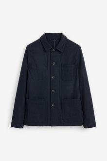 Next Wool Blend Worker Jacket - 273555