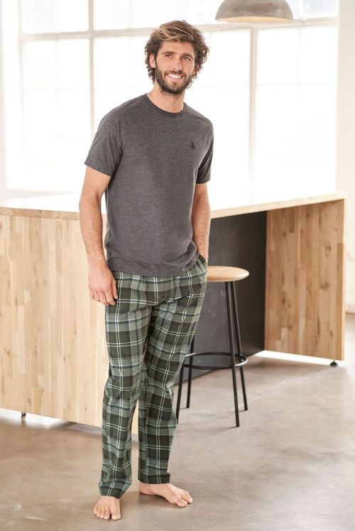 Next Check Woven Pyjama Set