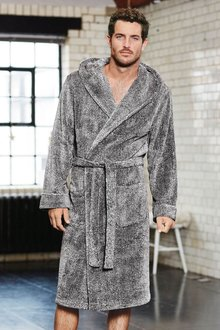 Next Super Soft Hooded Dressing Gown-Tall - 273569