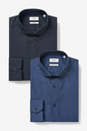 Next Textured And Print Shirts Two Pack