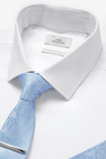 Next Shirt, Tie And Tie Clip With Pocket Square Set-Regular Fit Single